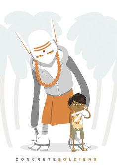Ranbir & Kiaan illustration by concrete soldiers. Character art creature monster vector