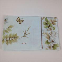 VTG Springmaid Grace Kelly Standard Pillowcase Pale Blue Butterflies Percale #GraceKellyforSpringmaid