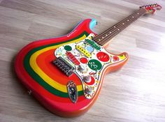 "The Painted Player- Replica of George Harrison's ""Rocky"" Strat ~ Strat-O-Blogster Guitar Blog"