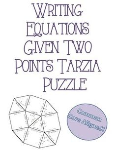 This is a great activity to use in Stations, as a small group activity, or as an individual activity! I have provided a Tarsia Style puzzle on Writing Equations given Two Points. Students will have to match the two points with the correct linear equation. Math 8, 7th Grade Math, Math Teacher, Teaching Math, Teaching Ideas, Algebra 1 Textbook, Algebra Lessons, Maths Algebra, Junior High Math