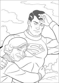 Dibujos para Colorear Superman 21