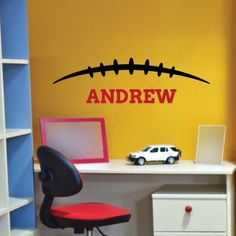 Cheap and easy sports wall decals! Football, basketball, ballet, soccer, volleyball and all removable!
