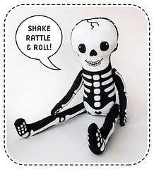 Skeleton fabric kit by Happy Sew Lucky - available at Spoonflower