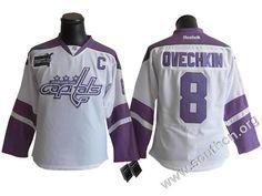 b681e9d37 Washington Capitals  8 Alex Ovechkin Women Hockey Fights Cancer Jersey  cheap