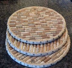 Wine Cork Trivets 16 round Would make a cool lazy Susan too!Utilized Beer Corks for sale to be used for craft tasks like wine plug wreaths, cork boards, marriage ceremony favors and even more.You can make a DIY Cork Board in any shape or size. You just ne Wine Craft, Wine Cork Crafts, Wine Bottle Crafts, Wine Bottle Corks, Crafts With Corks, Wine Cork Trivet, Wine Cork Art, Wine Cork Table, Upcycled Crafts