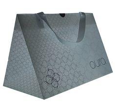 Polypropylene carrier bag  Client:  Aura / Dalziel & Pow  Materials:  500 micron Polyprop sheet  Processes:  Litho print, score and fold, heat weld  Download image