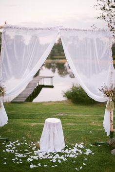 #wedding arch #levander #decor #evening #flowers