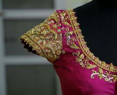 Blauj Design, Hand Embroidery Stitches, Work Blouse, Indian Fashion, Blouse Designs, Bell Sleeve Top, Bridal, Sarees, Blouses
