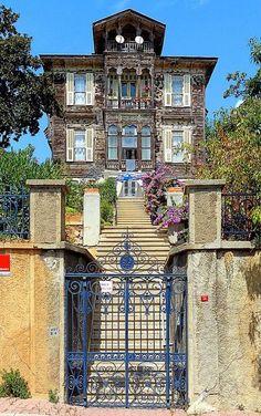 Traditional old houses of Princess Islands (Büyükada) of Istanbul, Turkey Hagia Sophia Istanbul, Turkish Architecture, Amazing Architecture, House Architecture, Empire Ottoman, Istanbul Hotels, Turkey Travel, Old Houses, Beautiful Places