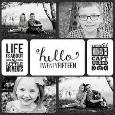 Project Life 2015 Title Page - Scrapbook.com