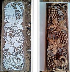 Plaster Art, Wood Creations, Bird Design, Wood Pieces, Wood Carving, Pottery, Birds, Wreaths, Ornaments