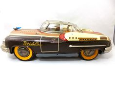 """1950's Space Dream Car Friction 17"""" Tin Toy"""
