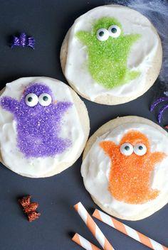 Halloween Ideas| Halloween Party Sprinkle Cookies