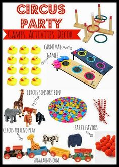 Circus Party Items For A Circus themed Camp Or VBS