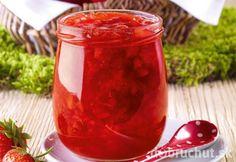 Jahodový topping z ružového vína Marmalade, Dressings, Berry, Salsa, Beverages, Jar, Canning, Fruit, Vegetables