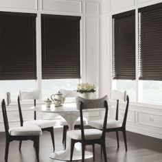 "Levolor 2"" Premium Wood Blinds in Ebony. Custom create the perfect wood blinds for your home from our selection of slat styles, finishes and colors - all available at Blinds.com."