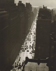 Seventh Avenue Looking South from 35th Street, Manhattan - by Berenice Abbott