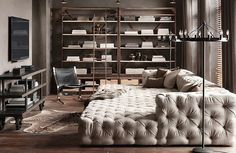 dream living room from Restoration Hardware