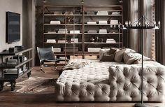 dream living room from Restoration Hardware