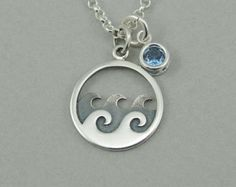 Circle Necklace  art deco necklace sterling silver circles