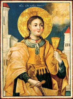 Russian icon of St. Barbara