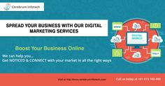 Offer #digitalmarketing services help to connect with the right audience-http://www.cerebruminfotech.com/digital-marketing.html