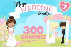 Wedding illustrations bundle - Wedding Sublimation designs #sublimationbackground #tshirtdesign #designbundles #designbundle #craftbundle #floralbundle #floralgraphics #floraldesigns #floralillustrations #floralclipart