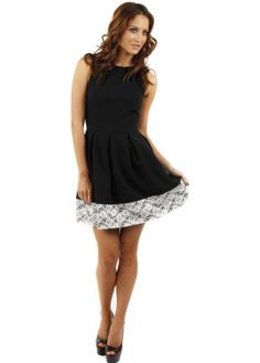 Closet skater dress with lace back