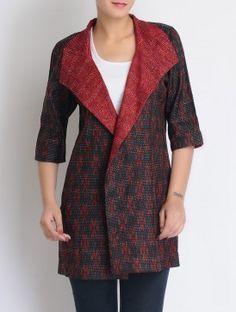 Silk Kantha-stitched jacket