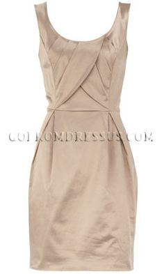 Lovinggg the cut of this, and the style of this dress. Perfect color for a Nature Themed Wedding, but if we go with the Military Themed, either Navy Blue or a darker red.