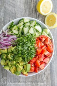 This Cucumber Tomato Avocado Salad recipe is a keeper! Easy Excellent Salad by Read Top Salad Recipe, Avocado Salad Recipes, Easy Salad Recipes, Paleo Recipes, Cucumber Salad, Avocado Dessert, Cucumber Cleanse, Cucumber Juice, Tomato Salad