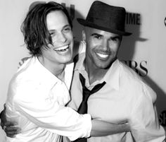 Mathew Gray Gubler and Shemar Moore. Two of my three crushes on Criminal Minds, the BEST FREAKING SHOW EVER!