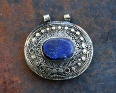 Beautiful handmade Afghan pendant - look4treasures on Etsy, $30.95