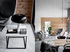 Чисто скандинавский деревянный дом в Финляндии | Пуфик - блог о дизайне интерьера
