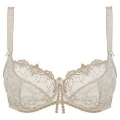 EMPREINTE - IRINA in Chantilly.  The low-necked version of the range glamorizes your shape by its delicate and shimmery details. The embroidered tulle offers support and comfort that only Empreinte can bring.  More on : www.empreinte.eu/ Find a store : http://www.empreinte.eu/storeLocator.aspx   #empreinte #lingerie #bridallingerie #bridal #mariage