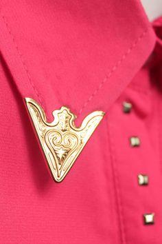 #Rowme Rivet Embellished Rose Shirt