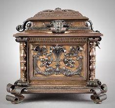 Wrought Iron Casket, Renaissance Revival, Fitted Interior, Outstanding Compares to the School of Samuel Yellin, Master Artist Blacksmith Unknown Maker, Possibly New York Late 19th Century