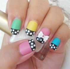 Nail, nail, nail / really cute and girly nails :D polka dots