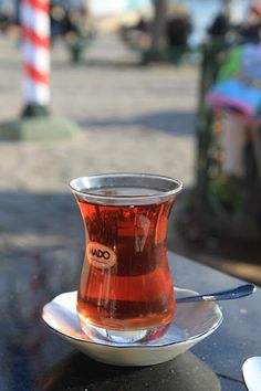 Turkish tea, Istanbul. For the best taste of tea ;Pier Lotti at Eyüp