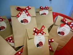 Ladybug party packs. It works and looks better when using red gift bags.