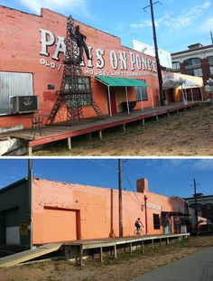"""Paris on Ponce, thrift/antique market on the Beltline. One of my initial inspirations of the project. I biked past this place a few months ago and the first thing I thought was """"wow, that porch would be perfect for a café/bar""""."""