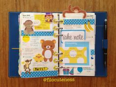 Filofax or other Personal Planner decorated page.