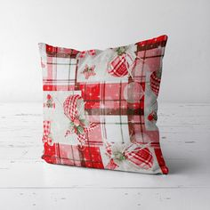 Poduszka CLEO Red Crystal 40x40 Merry Christmas, Throw Pillows, Crystals, Red, Merry Little Christmas, Toss Pillows, Cushions, Merry Christmas Love, Wish You Merry Christmas