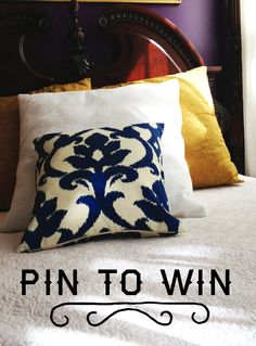 Pin this Photo! Win a Pillow! Click for more details... #PinToWin