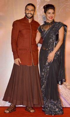 Ranveer Singh and Priyanka Chopra at the Malhari song launch from BajiraoMastani.