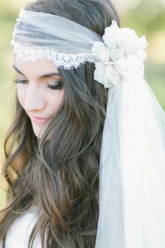 dont swipe 7 Gorgeous Veils and Headpieces for the Non-Traditional Bride 8 - https://www.facebook.com/different.solutions.page