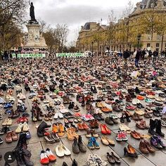 The #climatemarch was banned so this is what happened instead #genius regram @klausbiesenbach @marioncotillard by dovimaparis