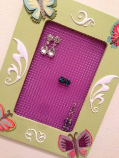 Butterfly Themed Earring Holder by WhimsyWoodcrafts on Etsy, $18.00
