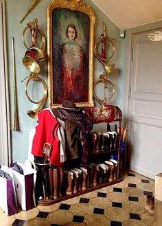 The private quarters of Jacques Garcia's Champ de Bataille - equestrian style English Country Manor, English House, English Style, Country Farm, English Countryside, Country Living, French Country, English Interior, English Decor