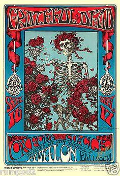 Music Poster/60's/70' /80's/'Grateful Dead'/Avalon Ballroom/Jerry Garcia